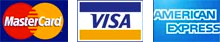 Accepted credit cards: MasterCard, Visa, American Express
